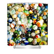 All The Marbles Shower Curtain by Edward Fielding