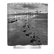 All The Roads Lead To The Pleasure Pier Shower Curtain