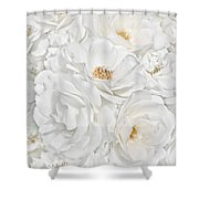All The White Roses  Shower Curtain