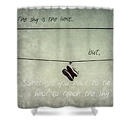 All Tied Up Inspirational Shower Curtain