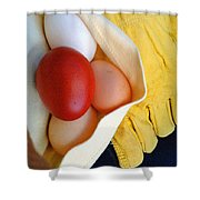 All Work No Souffle Shower Curtain