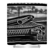 All Zipped Up II  Shower Curtain