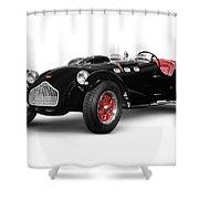 Allard J2x Vintage Sports Car Shower Curtain