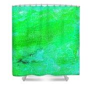 Allegory Aqua Green Shower Curtain