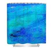 Allegory Blue Shower Curtain