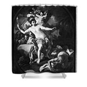 Allegory Of America Shower Curtain