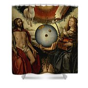 Allegory Of Christianity Oil On Panel Shower Curtain