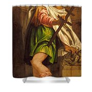 Allegory Of Navigation With A Cross-staff Shower Curtain