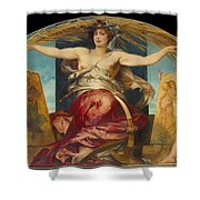 Allegory Of Religious And Profane Painting  Shower Curtain