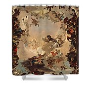 Allegory Of The Planets And Continents Shower Curtain