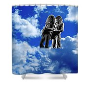Allen And Steve In Clouds Shower Curtain