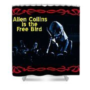 A C  Is The Blue Free Bird Shower Curtain