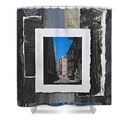 Alley 3rd Ward And Abstract Shower Curtain