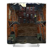 Alley At Dusk Shower Curtain