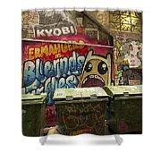 Alley Graffiti Shower Curtain