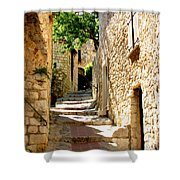 Alley In Eze, France Shower Curtain