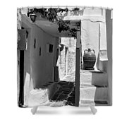 Alley In Kastro Village Shower Curtain