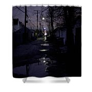 Alley Night Shower Curtain