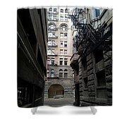 Alley Valleys 4 Shower Curtain