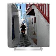 Alley Way In Mykonos Shower Curtain