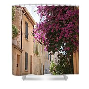 Alley With Bougainvillea - Provence Shower Curtain