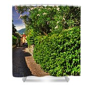 Alley With Green Plants Shower Curtain