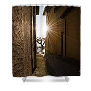 Alley With Sunbeam Shower Curtain