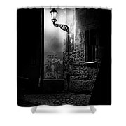 Alley Of Prague In Black And White Shower Curtain