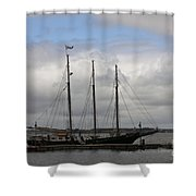 Alliance Schooner Shower Curtain by Teresa Mucha