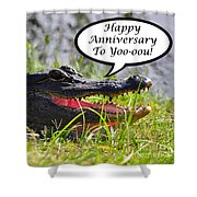 Alligator Anniversary Card Shower Curtain