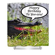 Alligator Birthday Card Shower Curtain