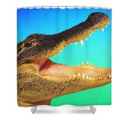Alligator Head With Open Mouth Shower Curtain