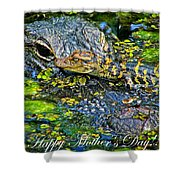 Alligator Mother's Day Shower Curtain