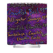 Alligator Sausage For Five Dollars 20130610 Shower Curtain