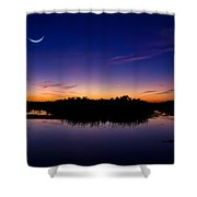 Alligator Twilight Shower Curtain