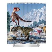 Allosaurus Pack Shower Curtain