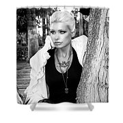 Allure Bw Palm Springs Shower Curtain