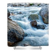Alluvial Fan Falls On Roaring River Inrocky Mountain National Park Shower Curtain