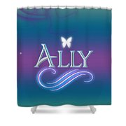 Ally Name Art Shower Curtain