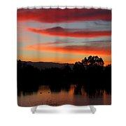 Almaden Sunset Shower Curtain