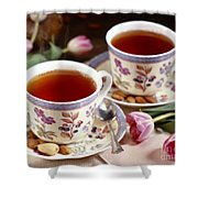 Almond Tea For Two Shower Curtain