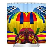 Almost Inflated Hot Air Balloons Mirror Image Shower Curtain