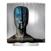 Almost Man In The Middle Shower Curtain