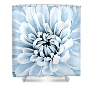 Almost Perfect-blue Shower Curtain
