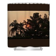 Almosts Gone Now Sunset In Smoky Sky Shower Curtain
