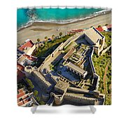 Almunecar Castle From The Air Shower Curtain