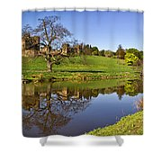 Alnwick Castle Panorama Shower Curtain