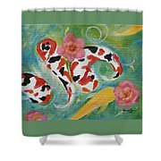 Aloha Koi Shower Curtain