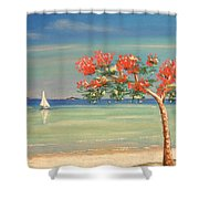 Aloha Shower Curtain by The Beach  Dreamer