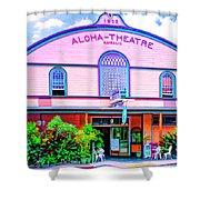 Aloha Theatre Kona Shower Curtain